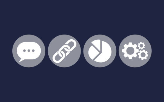 Four symbols to represent the Working Groups